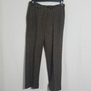 Ralph Lauren Womens 8 Wool Pants Brown Dress Work